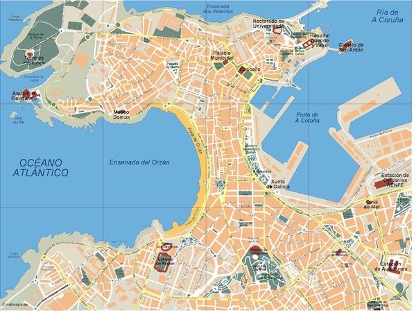 A Coruna map