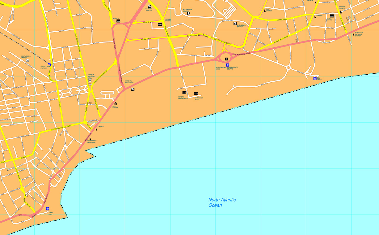 Download Accra Vector Map as digital file Purchase online our Eps