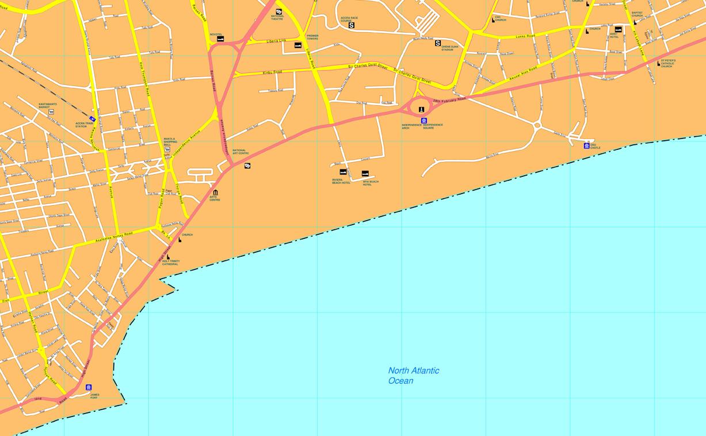 Accra vector map