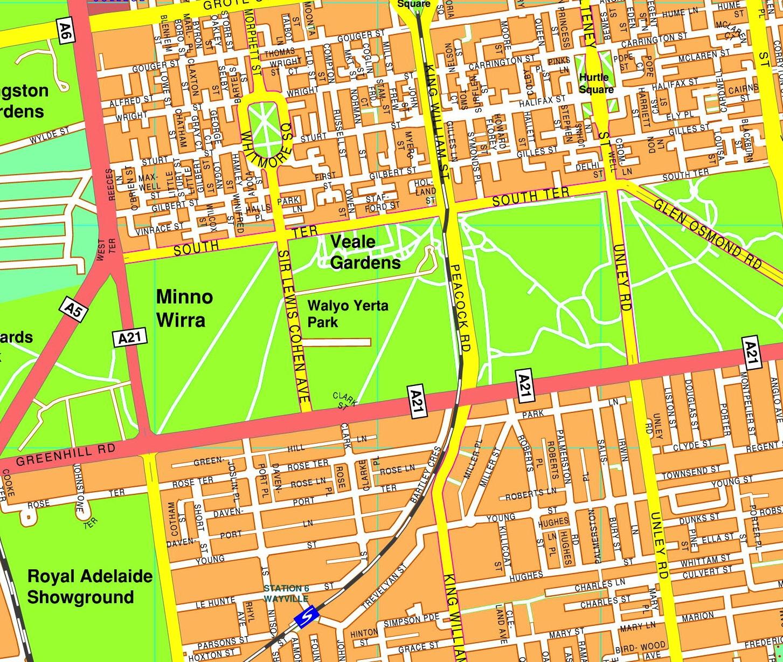 Adeilade streetmap