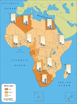 Africa Incomes map