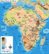 Africa-Mapa-Fisico vector map
