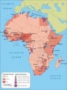 Africa-Population vector map