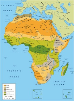 Africa climate map