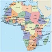 Africa-mapa-Politico vector map