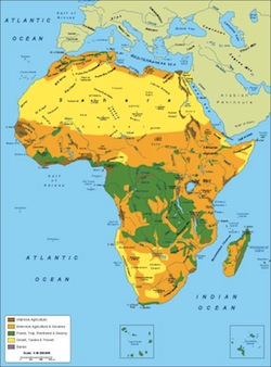 Africa vegetation map