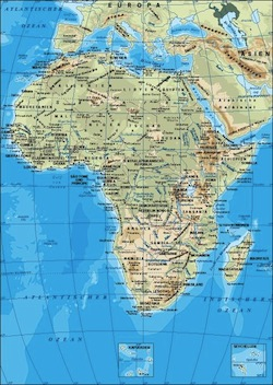 Afrika landkarten german