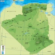 Algeria_physical vector map
