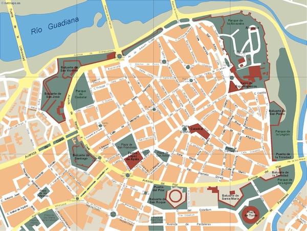 Badajoz map