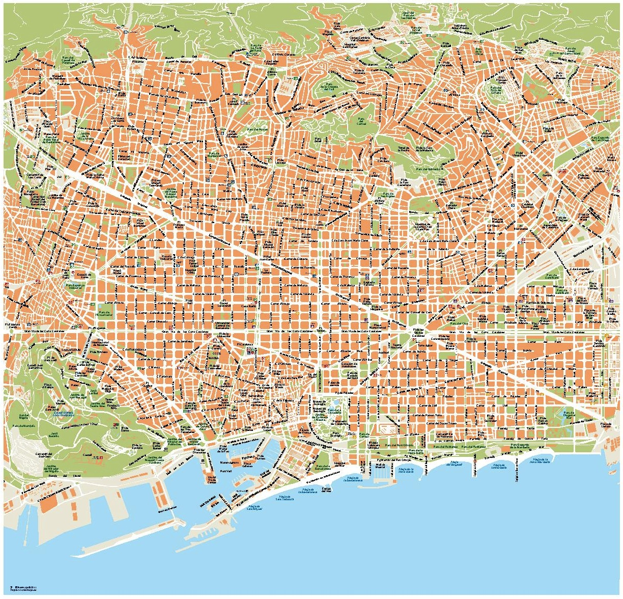 Barcelona complete City map