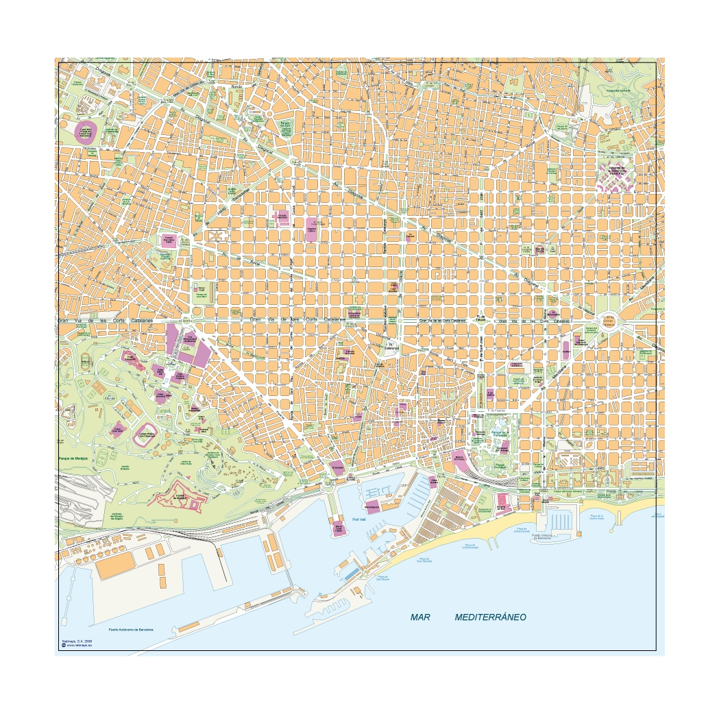Barcelona downtown map
