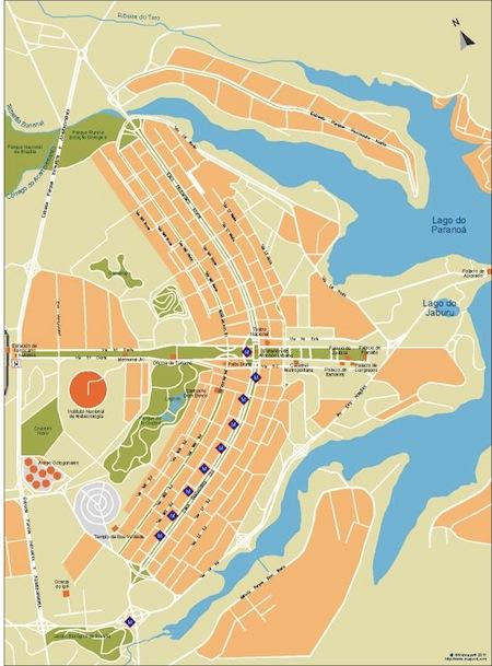 Brasilia city map