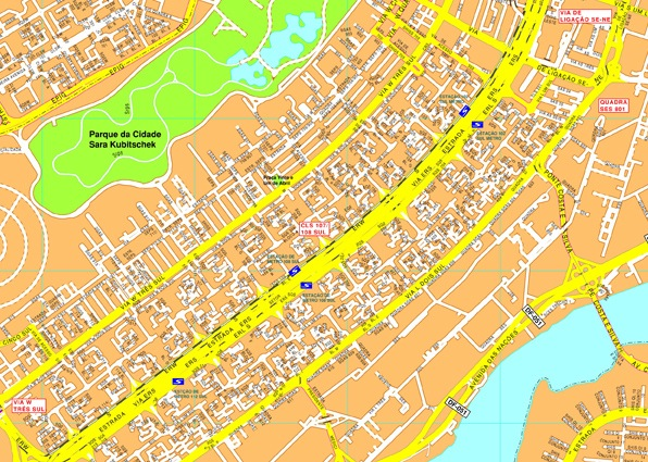 Brasilia streetmap