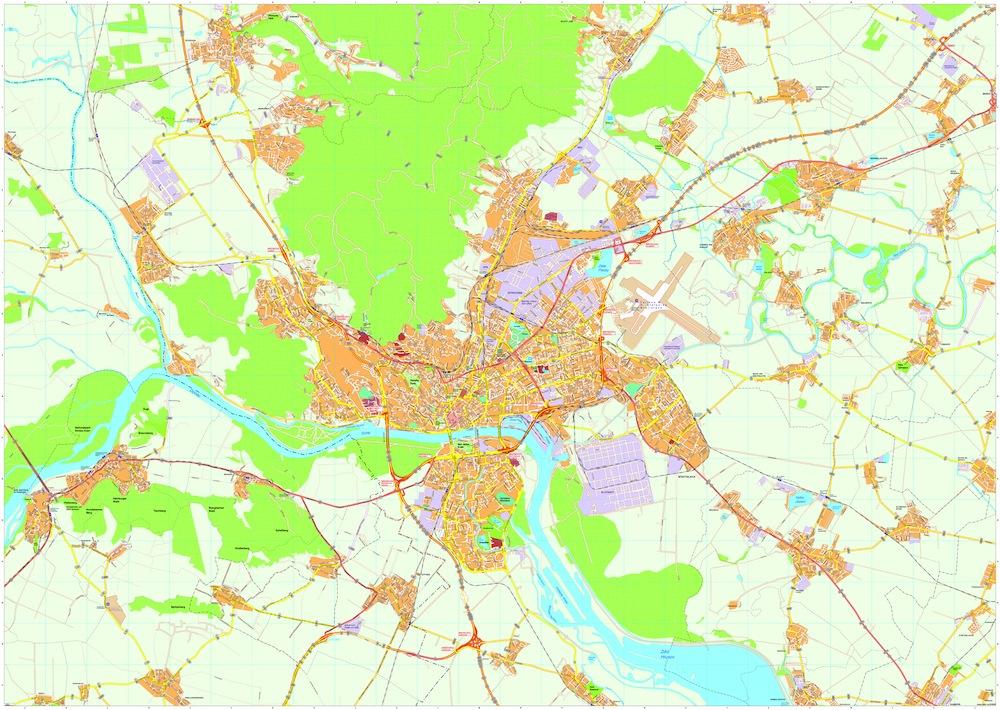 Bratislava map
