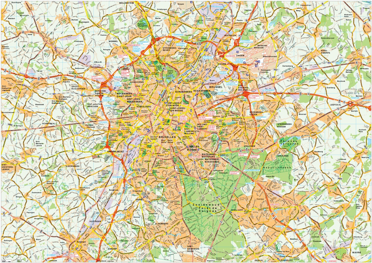 Download Brussels vector maps as digital file Purchase online our