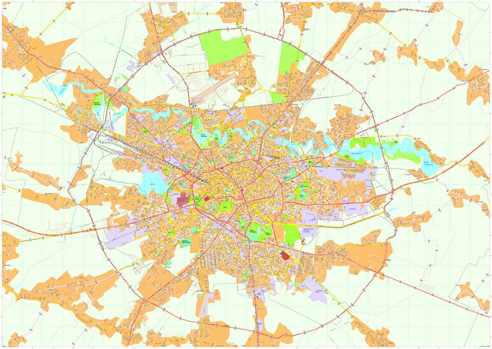 Bucarest map