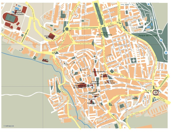 Caceres map