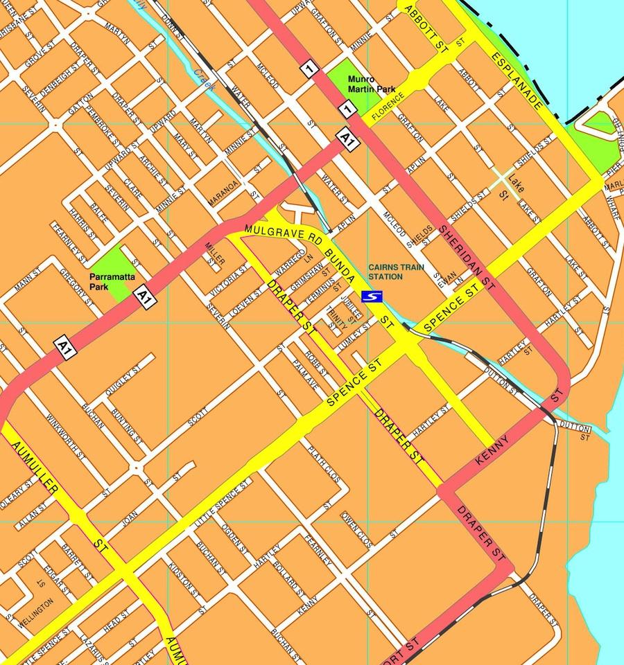 Cairns streetmap