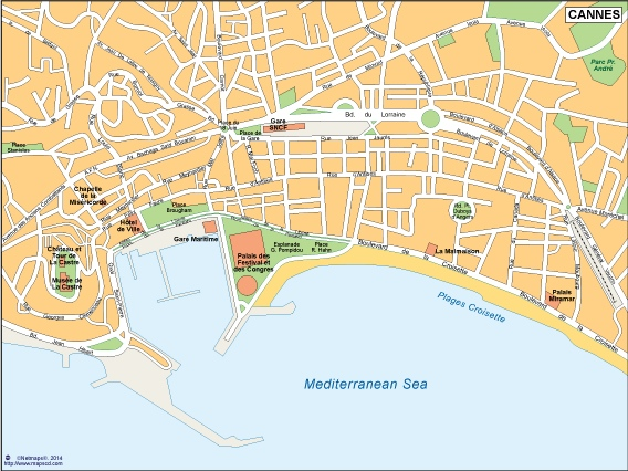 Cannes Vector Map