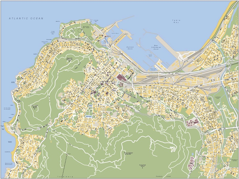 Cape Town Vector Map