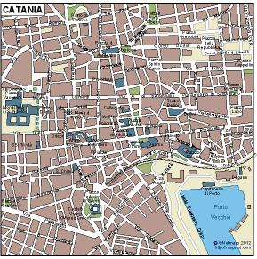 Catania  Vector Map