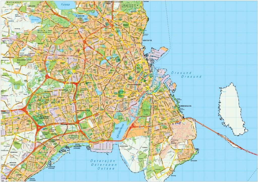Copenhagen Map Vector