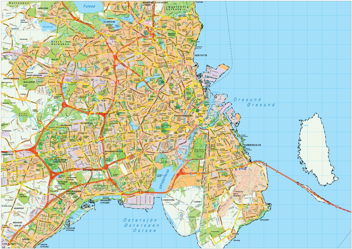Copenhagen map vector