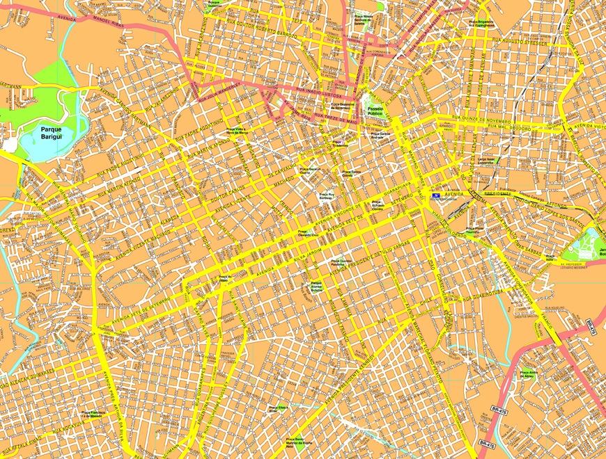 Curitiba streetmap