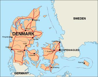 a geography of denmark The five themes of geography: denmark by: stephen parnell period 7 location place regions movement the capitol of denmark (copenhagen) is located at 56 degrees north and 10 degrees east.
