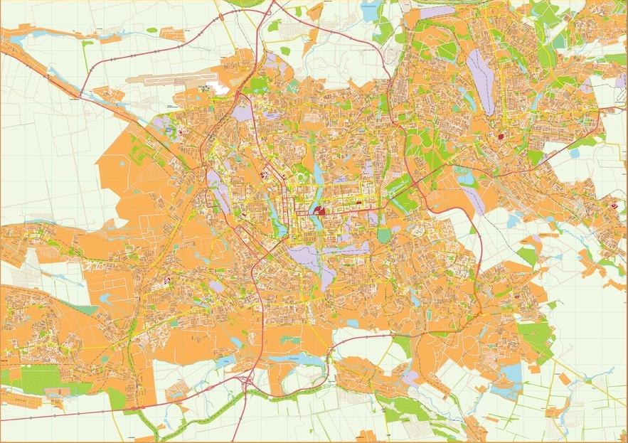Donetsk vector map