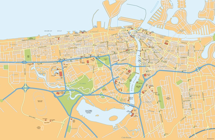 Dubai City Map