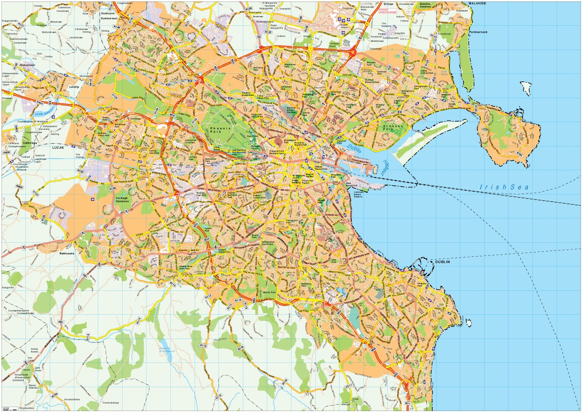 Dublin map vector