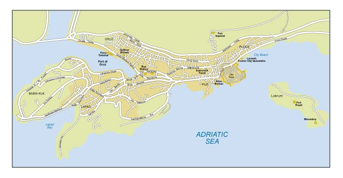 Dubrovnik greater city map