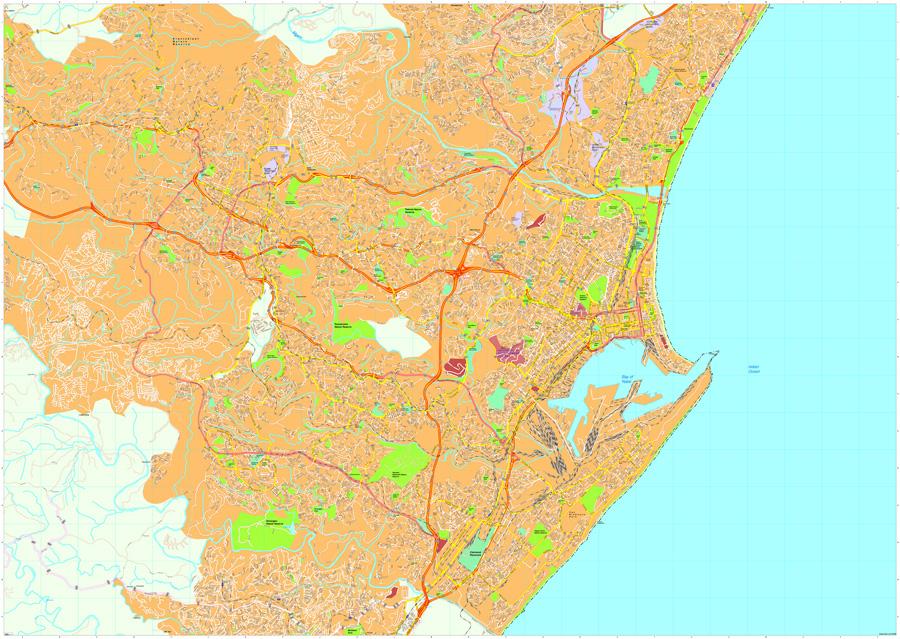 Durban map