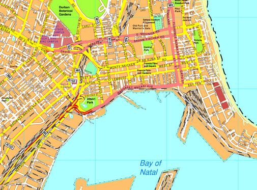 Durban vector map