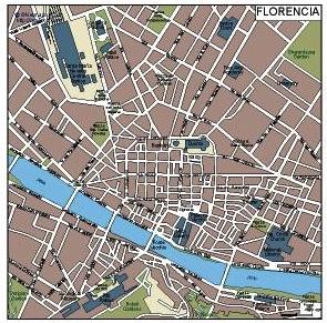 Florencia Vector Map