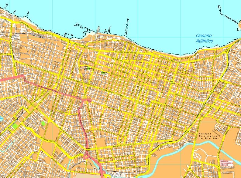 Fortaleza streetmap