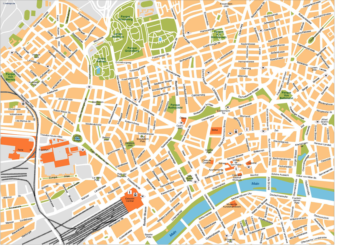 Download Frankfurt Vector Maps As Digital File  Purchase
