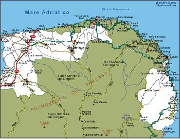 Gargano Vector Map