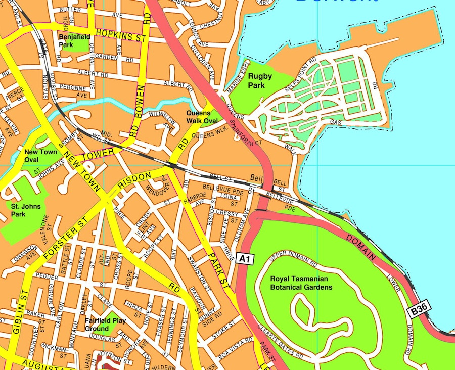 Download Hobart Vector Maps As Digital File Purchase Online Our - Hobart map