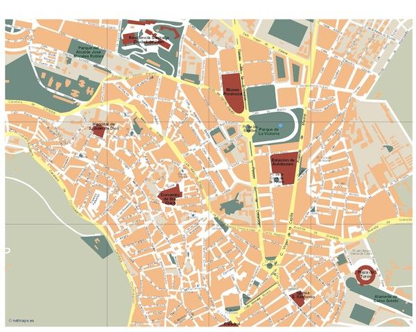 Jaen map