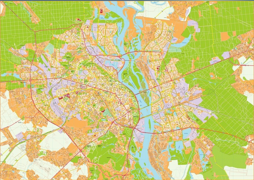 Kiev vector map