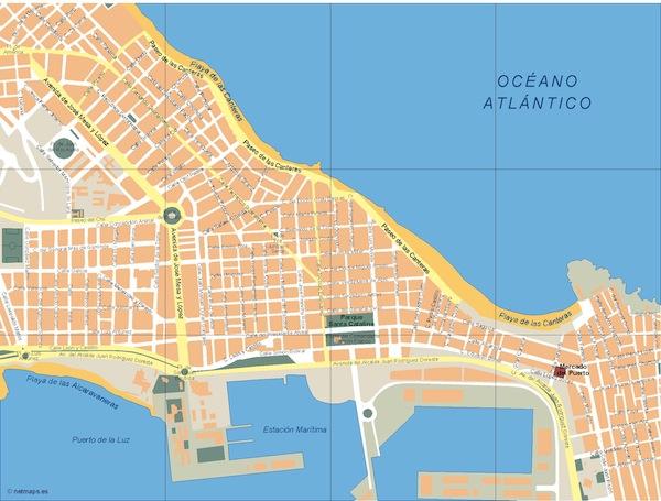 Las Palmas de Gran Canaria map