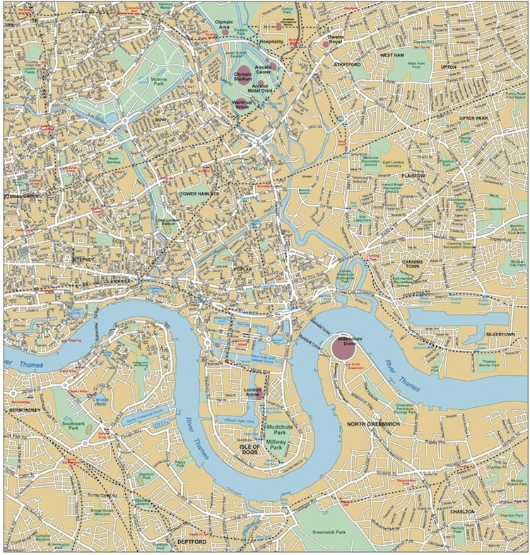 London East End Map