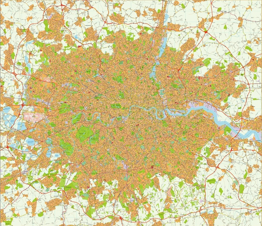 London area vector map