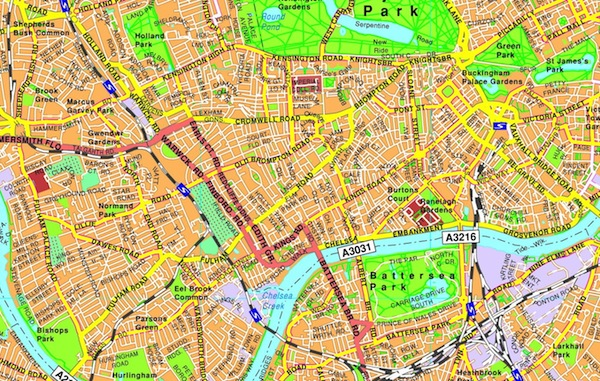 London illustrator map