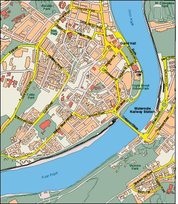Londonderry map