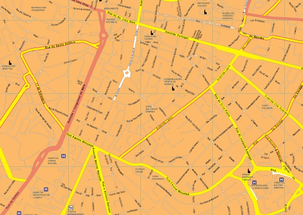 Luanda streetmap