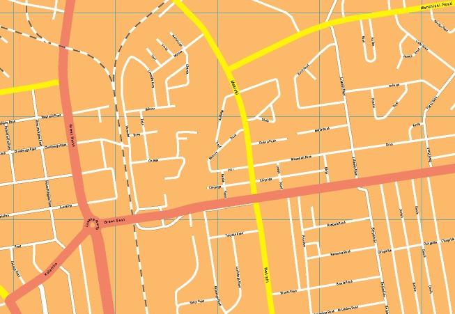 Lusaka streetmap