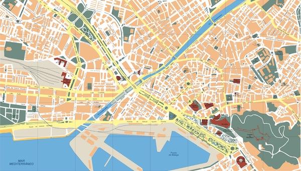 Malaga Map Illustrator Vector Eps Maps
